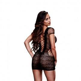 Mrežasta obleka Corset Front Lace