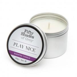 Sveča z vonjem vanilije Play Nice Fifty Shades