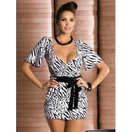 Kratka spalna srajčka Zebra