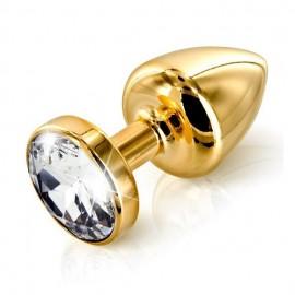 Zlat analni čep s kristalčkom Anni