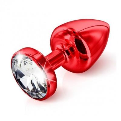 Rdeč analni čep s kristalčkom Anni