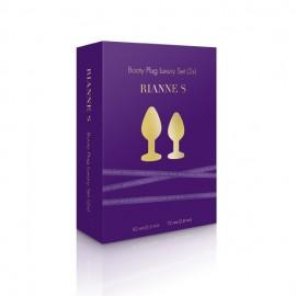 Luksuzni komplet dveh zlatih čepov Rianne S